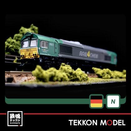 Nゲージ HobbyCenter KATO K10817 EMD Class66 Rail 4 Chem Green